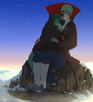 commission: kikuri-lia it's getting cold by GaaraJamiE88