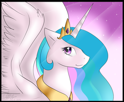 Princess Celestia free wallpaper by BlueGriffyon