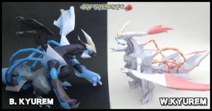 pokemon black and white 2 kyurem papercraft :v by javierini