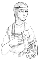 A Study with an Ermine by girlinblack