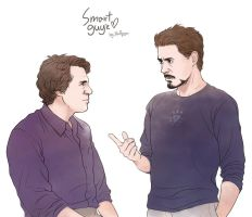 Avengers: Bruce and Tony by Hallpen