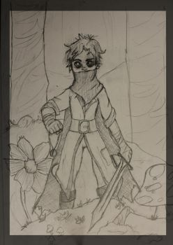 Rough Rythian Sketch by LittleVoodooShoppe