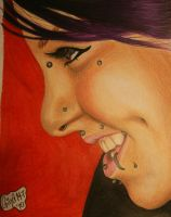 Colour pencil portrait. by Ginaart