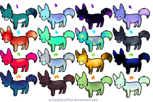 Wolf adoptables by Cinderlime