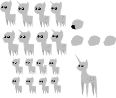 Pony Pack Templates by Zacatron94