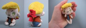Button Jointed Keychain - Chubby Human by WhittyKitty