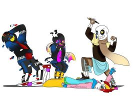 Draw the Squad with Paperjam, Fresh, Error and Ink by triscosmicshadows