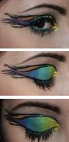 Peacock Make-Up by secretaccountofrobin