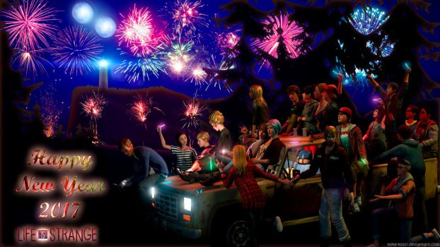 Life is Strange - New Year Party by Mike-Kossi