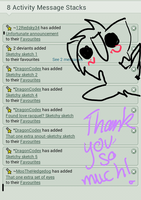 A big thanks to ~DragonCodex and ~12Redsky34 by kickerkitten
