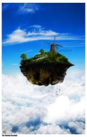 The Floating Face-land by 0rAX0