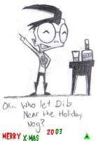 MERRY X-MAS WITH DIB 'N' NOG by swolleneyeballs