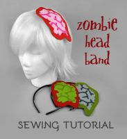 Sewing Tutorial - Exposed Brain Zombie Headband by SewDesuNe
