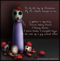 My Pet Zombie Christmas Day 6 by fallnangeltears