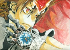 Drawing of Tsuna Sawada by Vanguard204
