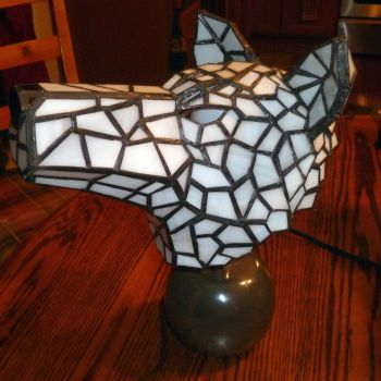Princess Mononoke Hime Wolf Stained Glass Lamp 2 by mclanesmemories