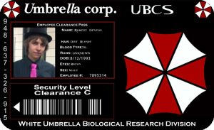Umbrella Corporation ID card by SoujiDesigns
