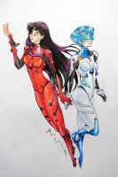 Unit Mars and Mercury - Sailor Evangelion by aruberutokun