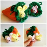 Amigurumi Easter Bunny + Carrot Pouch by SuniMam