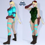 Iray - Game Heroines - Cammy White by Daniel-Remo-Art