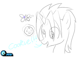 (5 minute drawing) Cookie!!! by AZ-Derped-Unicorn