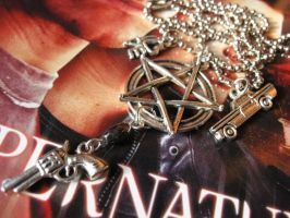 I Love Supernatural Necklace by SpellsNSpooks
