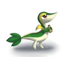 Snivy and the Berry by kyraflight