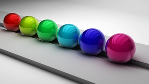 Colourful Glossy Metal Balls - Photoshop Edit by ryanr08