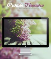 Wallpaper Purple Flowers by DeserveWhatYouDream