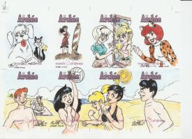 Archie Cards Set 1 by AmberStoneArt