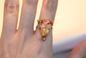 Cheese Pizza Slice Ring by ClayConfectionary