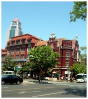 On a Qingdao Street Corner by lifedrawnpoorly