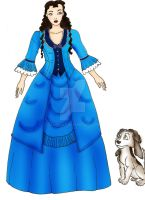 Christine Daae and Wolfgang by Selinelle