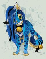 blue pretty cat by zatch114