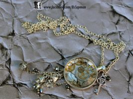 Frozen Clockwork Pendant by LittleShopOfLostArts