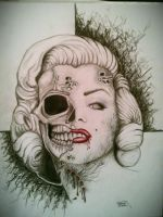 Marilyn Monroe Zombie by mellmunson