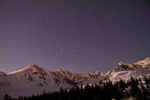 Mountains at night by Dunadan-from-Bag-End