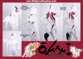 Amaterasu Okami Hoodie Cosplay by KayPikeFashion