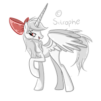 Adopted Pony: White Rose by Sitrophe