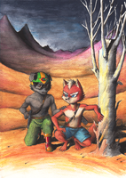 Wild Dogs - Fox and Bill by Desgan