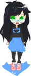 Jade Harley Pixel Chibi by Sociopathic-Strife