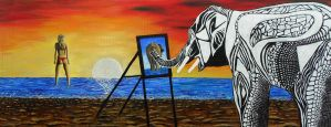 Painting Pachyderm by Abuttonpress2Nothing