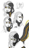 GLaDOS faces by zynwolf