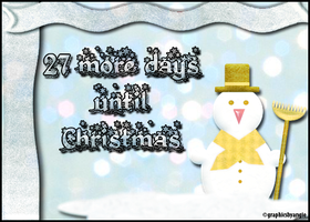 27 More Days Until Christmas by TheSkyWeepsAtNight