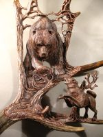 Moose antler carvings by dmitrygorodetsky