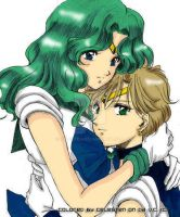 Sailor Uranus and Sailor Neptune by celesten
