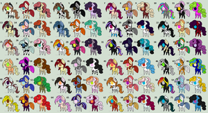 72 Ponies Adopt (CLOSED) by Rainbows-Lover