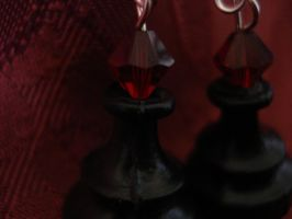 Black pawn earings 2 by SourKiss