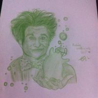My drawing of Robin Williams (RIP) by ChelseaWildesArt
