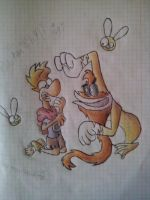 Polokus what are you doing with Rayman? by Rayania